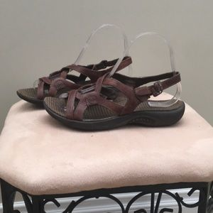 Brown leather merrell sandals
